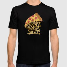 LOVE @ FIRST SLICE MEDIUM Mens Fitted Tee Black