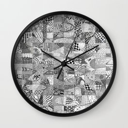 Doodling Together #1 Wall Clock