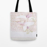 millenium falcon Tote Bags featuring Falcon by Julia Walters Illustration
