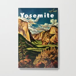 Yosemite National Park - Vintage Travel Metal Print