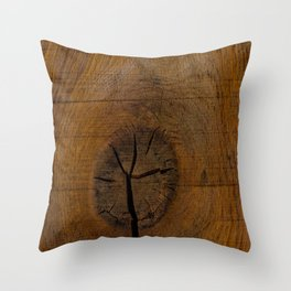 The Wood Knot Throw Pillow