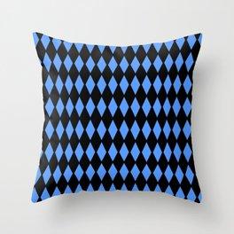 Blue Diamond Pattern Throw Pillow