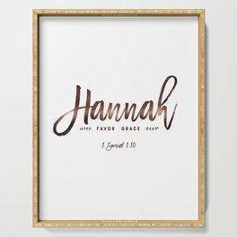 Christian name | Hannah Serving Tray