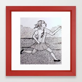 As Fast As You Can Framed Art Print