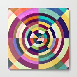 Playing Darts with Colours Metal Print