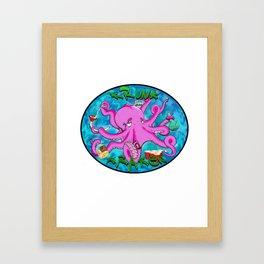 The Krunk Kraken  Framed Art Print