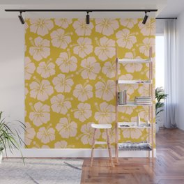 Hibiscus Pattern Wall Mural