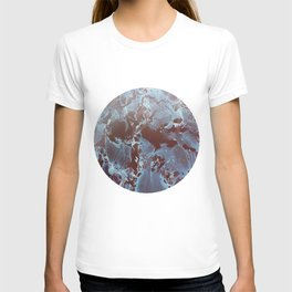 Shadows in Blue and Brown T-shirt