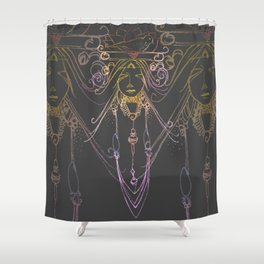 Tribal Face 3 Shower Curtain