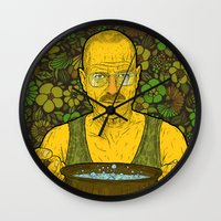 cook Wall Clocks featuring Cook (green) by Lime