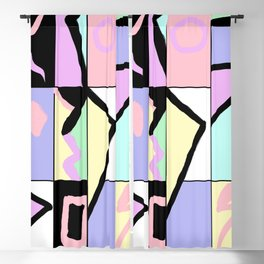 80s Pastel Colorblock retro abstract sweater Blackout Curtain