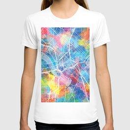 dallas map watercolor T-shirt