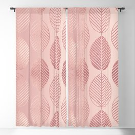 Rose Gold Leaf Pattern Blackout Curtain