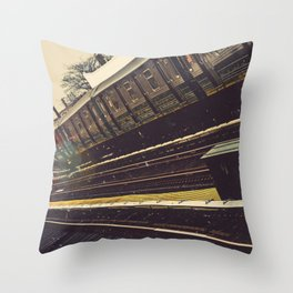 Meet me in the city Throw Pillow