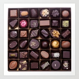 Chocolate Box Art Print