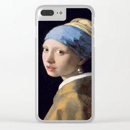 Vermeer, Girl with a Pearl Earring,Meisje met de parel,La joven de la perla Clear iPhone Case