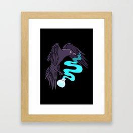 Raven Familiar // Potion Framed Art Print