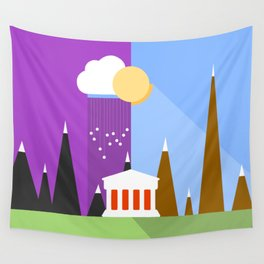 Landscape - sun and rain - Material Design  Wall Tapestry