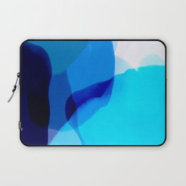 blue winter ice now abstract watercolor Laptop Sleeve