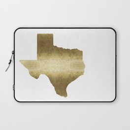 texas gold foil print state map Laptop Sleeve