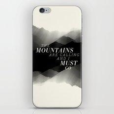 Mountains - BW iPhone & iPod Skin
