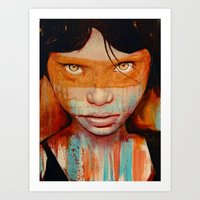 oil Art Prints featuring Pele by Michael Shapcott