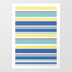 The Summer Stripes Art Print