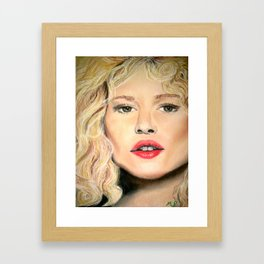 Kate Winslet in Pastel Framed Art Print