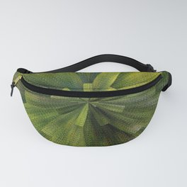 Geometric Green Burst Fanny Pack