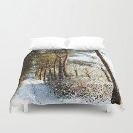 Forest Snow Scene Duvet Cover