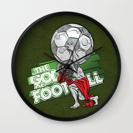 the god of football Wall Clock