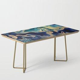 DRAMAQUEEN - GOLD INDIGO MARBLE Coffee Table