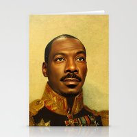 eddie vedder Stationery Cards featuring Eddie Murphy - replaceface by replaceface