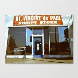 Vinnie was here Canvas Print