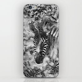 AnimalArtBW_Zebra_20170703_by_JAMColorsSpecial iPhone Skin