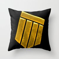 shield Throw Pillows featuring Shield by Emma Harckham