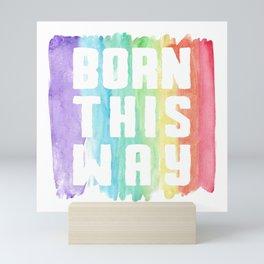 This Way Gay Lesbian Homo CSD LGBT Gift Mini Art Print