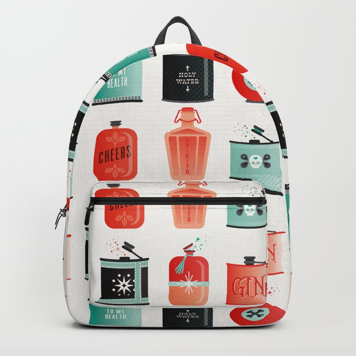 Flask Collection – Red & Turquoise Palette Rucksack