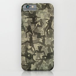 Sexy girls camouflage iPhone Case