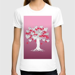 tree of love with hearts T-shirt