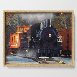 The Rail Yard  -  Steam Train Serving Tray