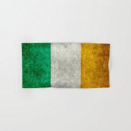 Republic of Ireland Flag, Vintage grungy Hand & Bath Towel