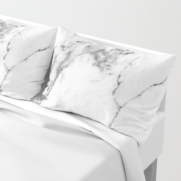 White Marble I Pillow Sham