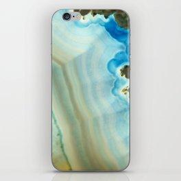 Turquoise Aquamarine Blue Gem Stone Agate Crystal iPhone Skin