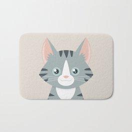 Grey Tabby Cat Bath Mat