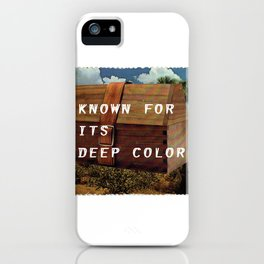 Known for it's Deep Color (Joshua Trees and Aaron Poritz Lunchbox) iPhone Case