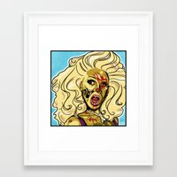 rupaul Framed Art Prints featuring Zombie RuPaul by ComfortComfort