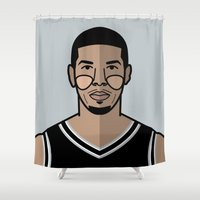 danny ivan Shower Curtains featuring Danny Green by Will Wild