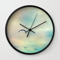 freedom Wall Clocks featuring freedom by Sylvia Cook Photography
