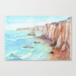 Cliffs at Normandie WC160404c-11 Canvas Print